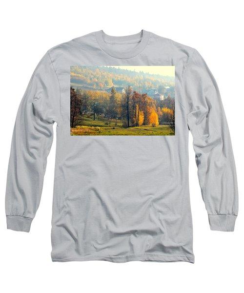 Autumn Morning Long Sleeve T-Shirt by Henryk Gorecki