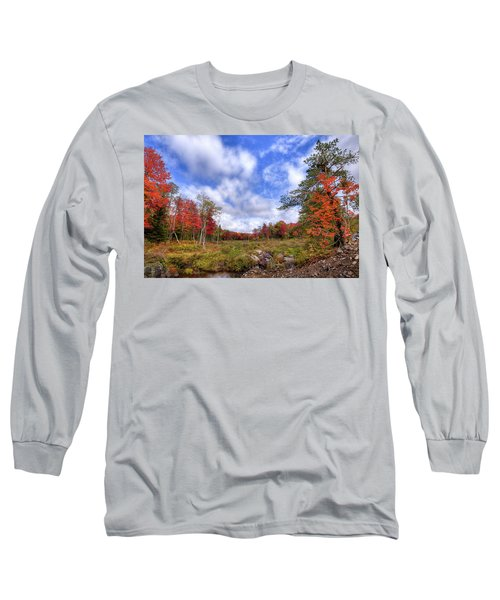 Long Sleeve T-Shirt featuring the photograph Autumn On The Stream by David Patterson