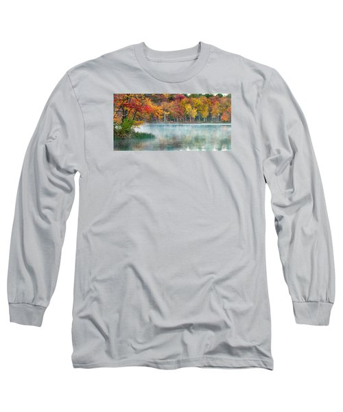 Autumn Pond Long Sleeve T-Shirt by Brian Caldwell