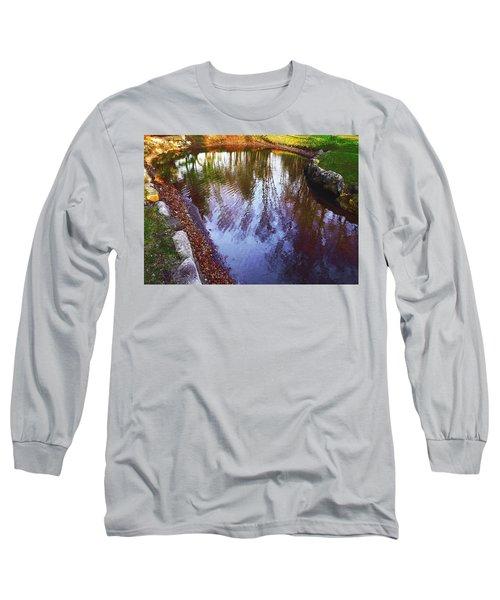 Autumn Reflection Pond Long Sleeve T-Shirt