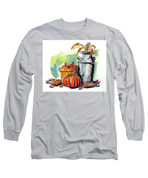Long Sleeve T-Shirt featuring the painting Autumn Still Life 2 by Terry Banderas