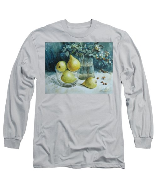 Long Sleeve T-Shirt featuring the painting Autumn Still Life 3 by Elena Oleniuc