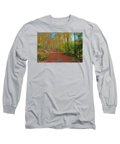 Autumn Walk Long Sleeve T-Shirt by John Selmer Sr