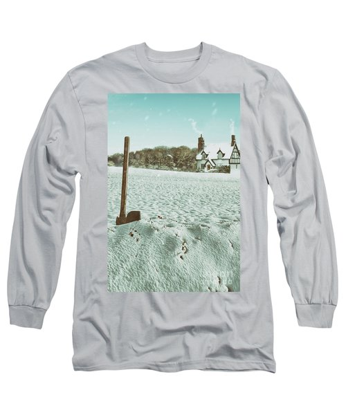Axe In The Snow Long Sleeve T-Shirt