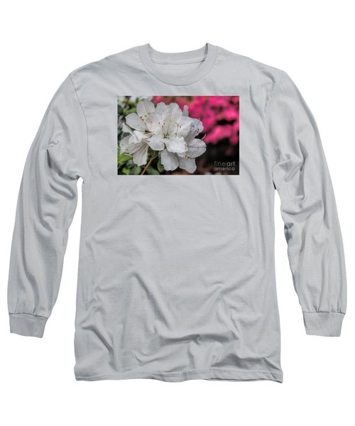 Long Sleeve T-Shirt featuring the photograph Azaleas In Turtle Creek by Diana Mary Sharpton