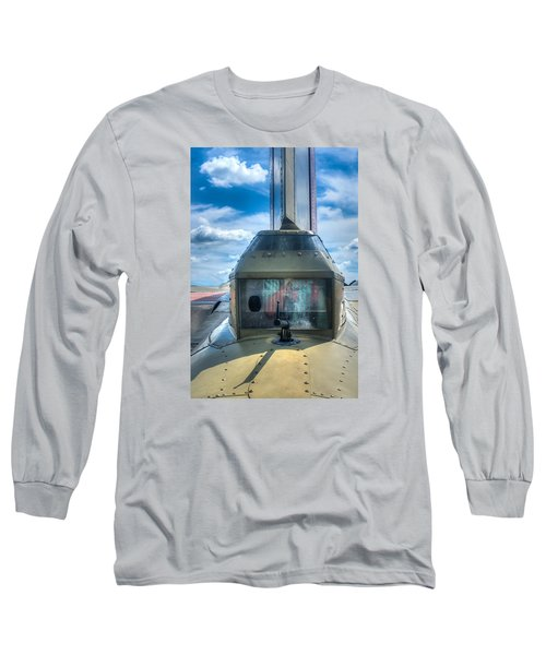 Long Sleeve T-Shirt featuring the photograph B17 Tail Gunner Position by Gary Slawsky