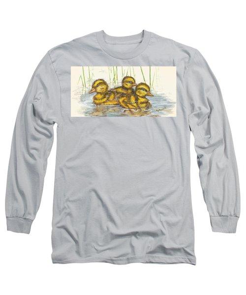 Baby Ducks For Ma Long Sleeve T-Shirt