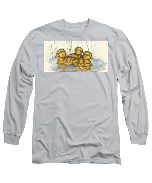 Baby Ducks For Ma Long Sleeve T-Shirt