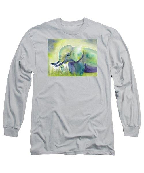 Baby Elephant Long Sleeve T-Shirt by Frank Bright