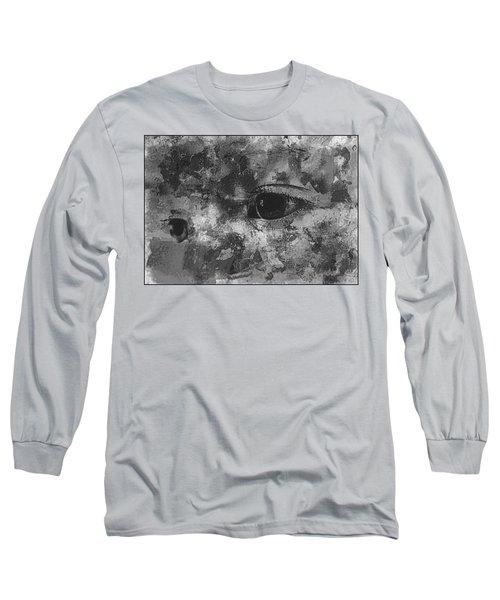 Baby Eyes, Black And White Long Sleeve T-Shirt