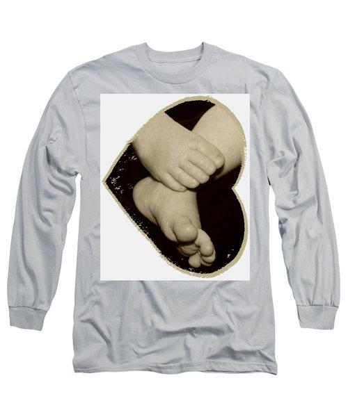 Baby Feet Long Sleeve T-Shirt by Ellen O'Reilly