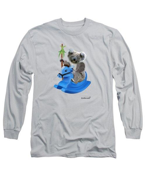Baby Koala Buckaroo Long Sleeve T-Shirt by Glenn Holbrook