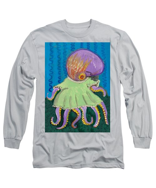 Baby Octopus In A Dress Long Sleeve T-Shirt