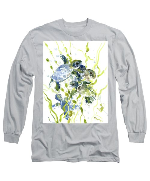 Baby Sea Turtles In The Sea Long Sleeve T-Shirt