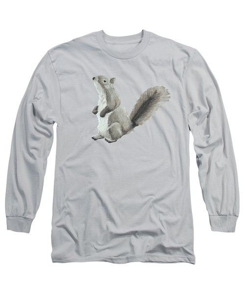 Baby Squirrel Long Sleeve T-Shirt by Dominic White