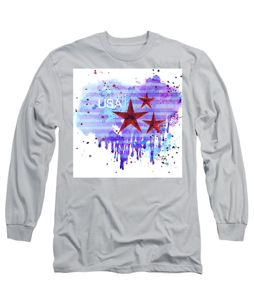 Long Sleeve T-Shirt featuring the painting Back In The Usa by Colleen Taylor