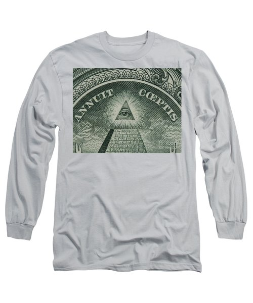 Back Of 1 Dollar Bill Long Sleeve T-Shirt