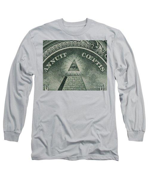 Back Of 1 Dollar Bill Long Sleeve T-Shirt
