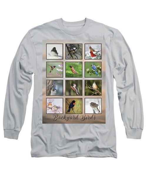 Long Sleeve T-Shirt featuring the photograph Backyard Birds by Lori Deiter