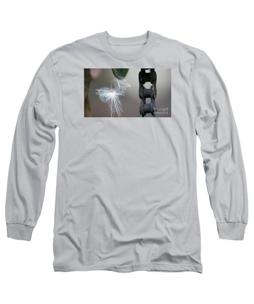 Balance, Feather And Iron Chain In The Wind Long Sleeve T-Shirt