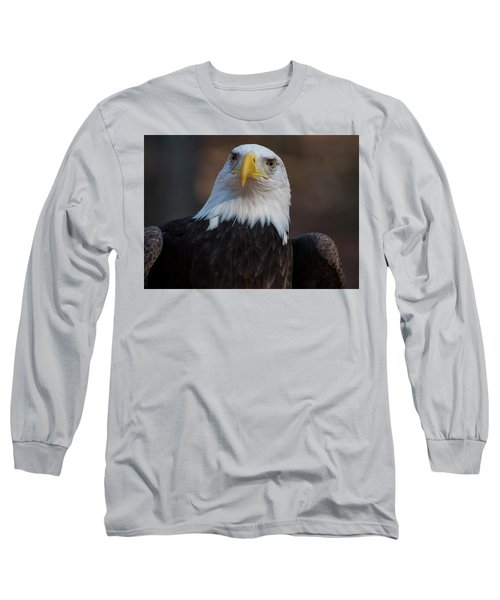 Bald Eagle Looking Right Long Sleeve T-Shirt