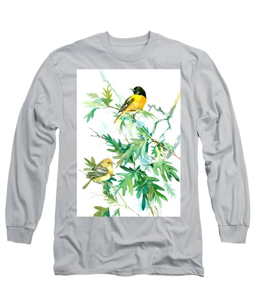 Baltimore Orioles And Oak Tree Long Sleeve T-Shirt by Suren Nersisyan