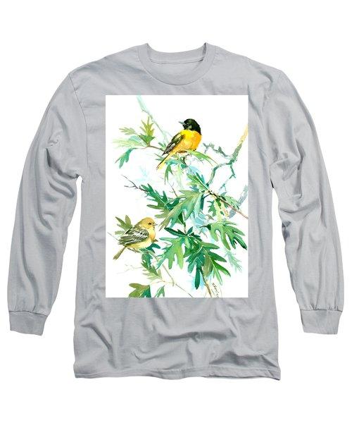 Baltimore Orioles And Oak Tree Long Sleeve T-Shirt