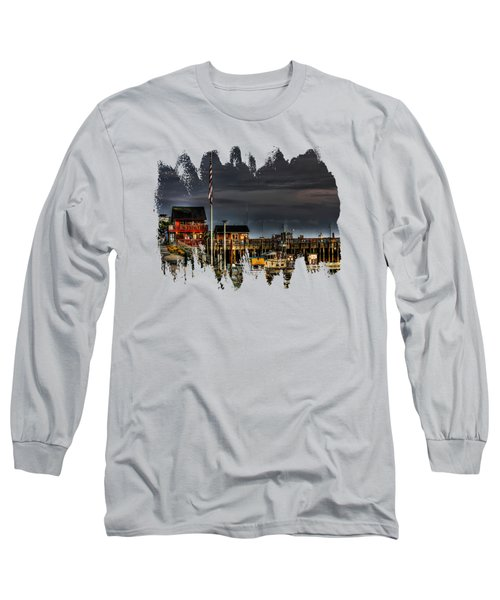 Long Sleeve T-Shirt featuring the photograph Bandon Boat Basin At Dawn by Thom Zehrfeld
