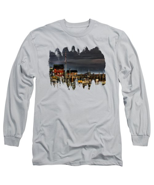 Bandon Boat Basin At Dawn Long Sleeve T-Shirt