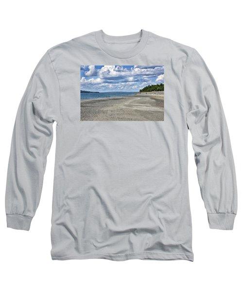 Bar Harbor - Land Bridge To Bar Island - Maine Long Sleeve T-Shirt by Brendan Reals