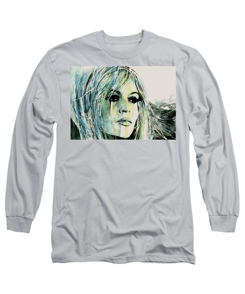 Long Sleeve T-Shirt featuring the painting Bardot by Paul Lovering