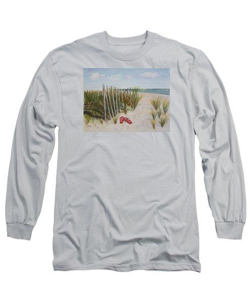 Barefoot On The Beach Long Sleeve T-Shirt