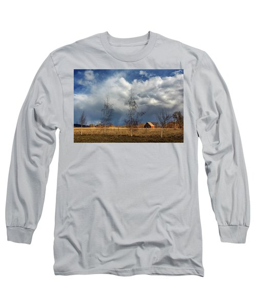 Long Sleeve T-Shirt featuring the photograph Barn Storm by James Eddy