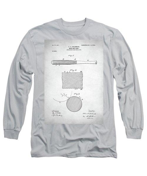 Baseball Bat Patent Long Sleeve T-Shirt