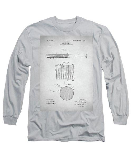Baseball Bat Patent Long Sleeve T-Shirt by Taylan Apukovska