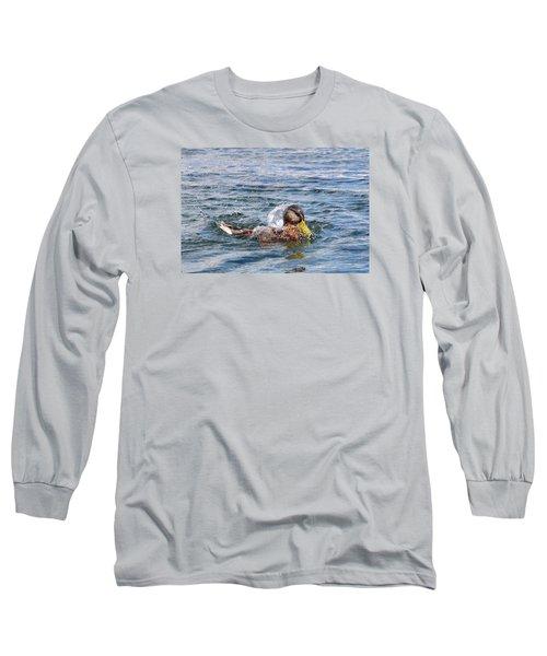 Long Sleeve T-Shirt featuring the photograph Bath Time by Glenn Gordon