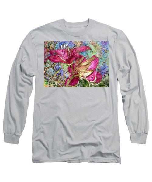 Batik Lilies Long Sleeve T-Shirt