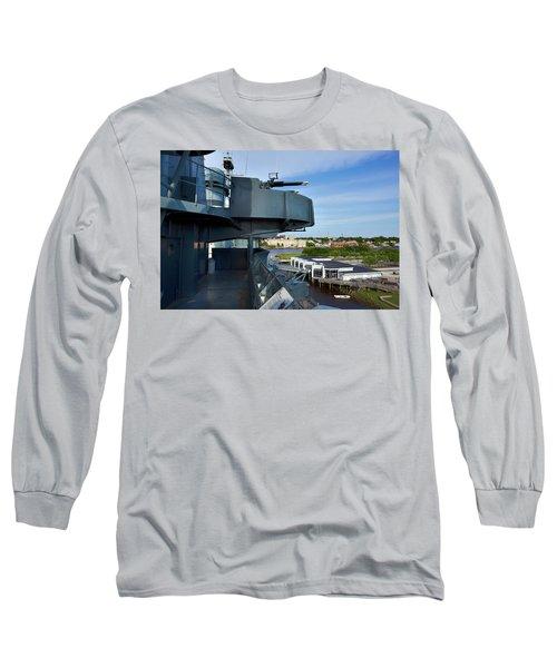 Battleship View Of Wilmington Nc Long Sleeve T-Shirt