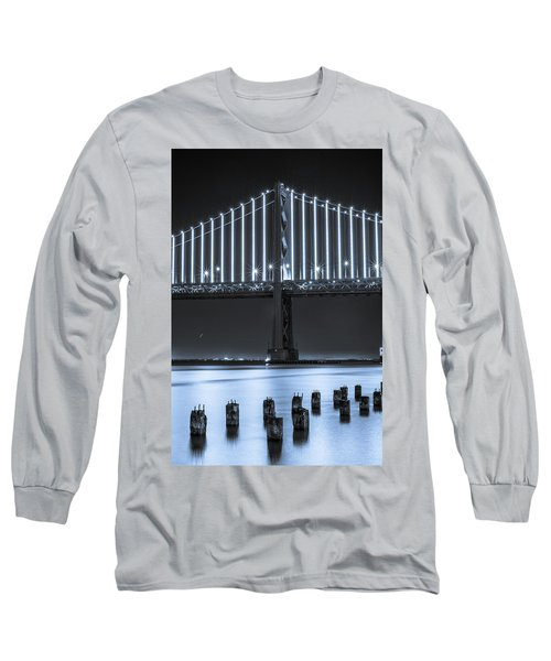 Bay Bridge 2 In Blue Long Sleeve T-Shirt