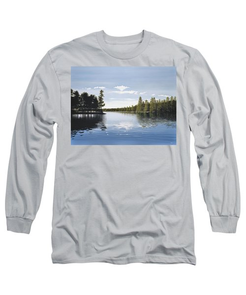 Bay On Lake Muskoka Long Sleeve T-Shirt