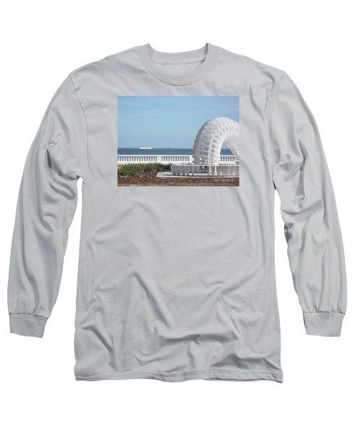 Bayshore Boulevard Sculpture Long Sleeve T-Shirt by Gail Kent
