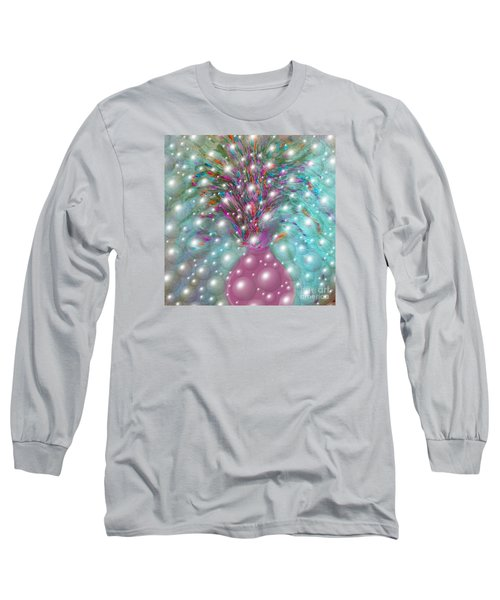 Bbubbling Vase Of Flowers Long Sleeve T-Shirt by Sherri's Of Palm Springs