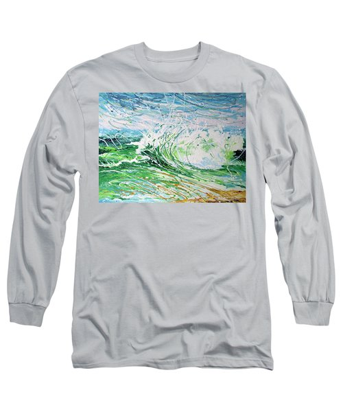 Long Sleeve T-Shirt featuring the painting Beach Blast by William Love