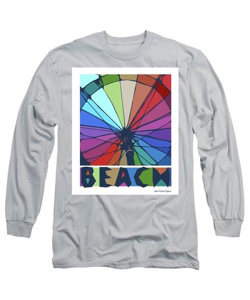 Beach Design By John Foster Dyess Long Sleeve T-Shirt