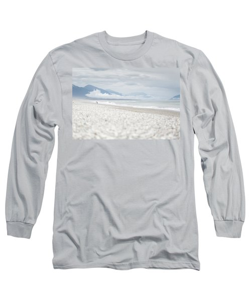 Beach For Two Long Sleeve T-Shirt by Alex Conu