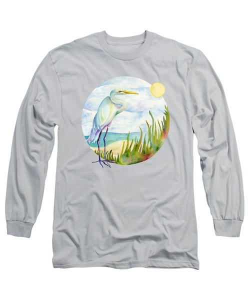 Beach Heron Long Sleeve T-Shirt
