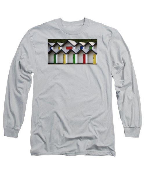 Long Sleeve T-Shirt featuring the photograph Beach Huts by Shirley Mitchell