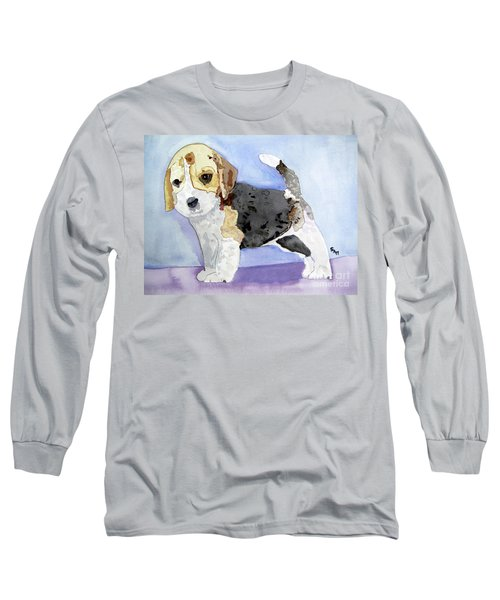 Beagle Pup Long Sleeve T-Shirt by Sandy McIntire