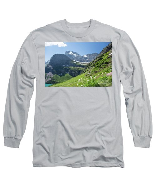 Beargrass - Grinnell Glacier Trail - Glacier National Park Long Sleeve T-Shirt