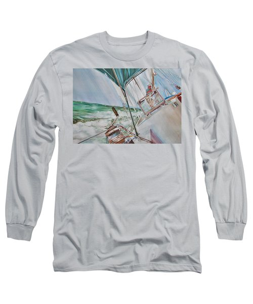 Beating Windward Long Sleeve T-Shirt by P Anthony Visco